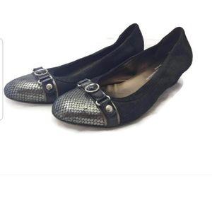 AGL Black Suede Ballet Flats Size 10/40